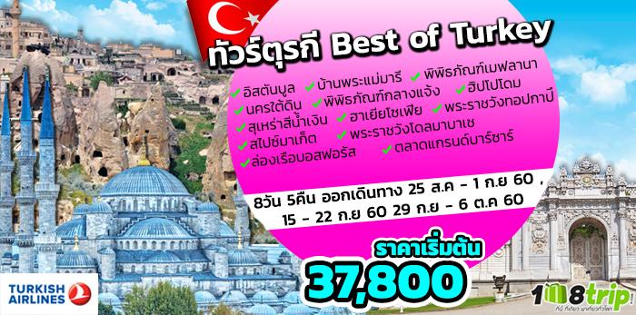 ทัวร์ตุรกี Best of Turkey 8 วัน 5 คืน โดยสายการบินเตอร์กิช แอร์ไลน์ (TK)